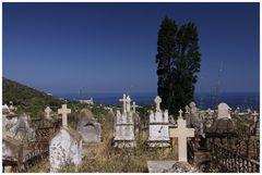 Friedhof mit Meerblick