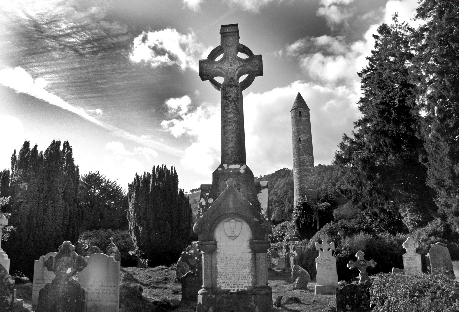 Friedhof Wicklow Mountains Irland
