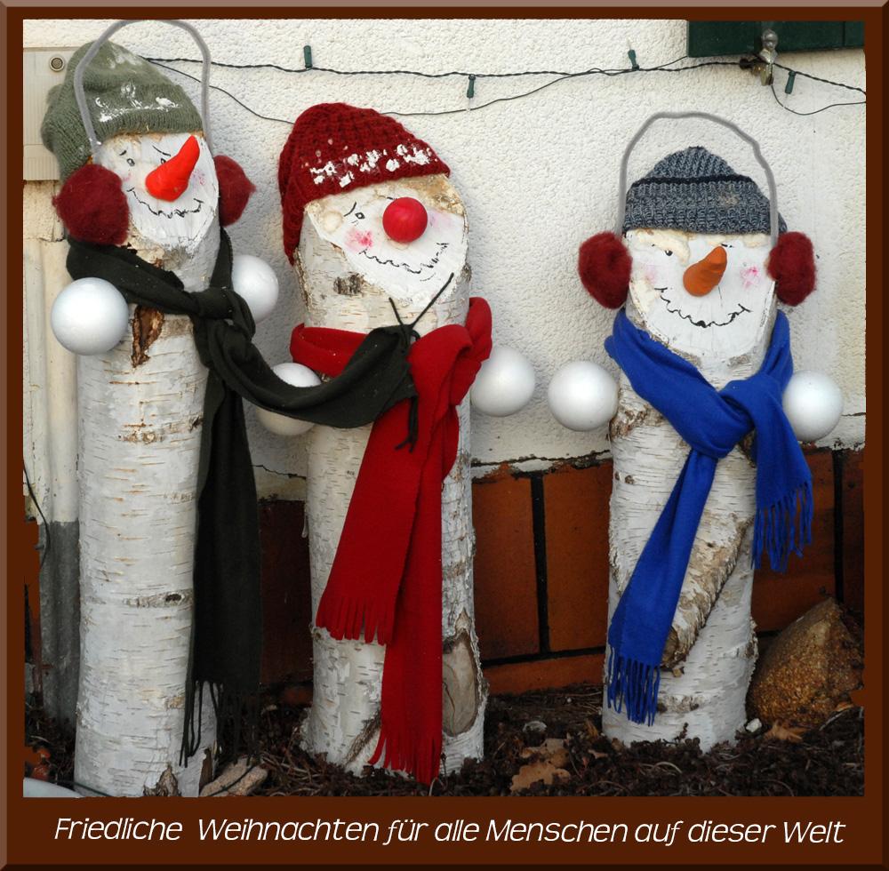 Friedliche Weihnachten allen Menschen auf dieser Welt und ein ...