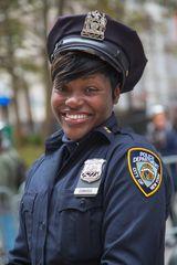 Friendly New York Police Officer