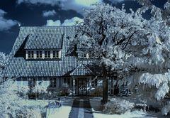 Friesenhaus im Alten Land infrared