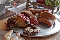 Frischer Hund- Markt in Sa Pa/ Vietnam