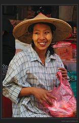 Fröhlichkeit auf Burmesisch