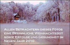 Frohe Weihnacht und alles Gute für 2010...