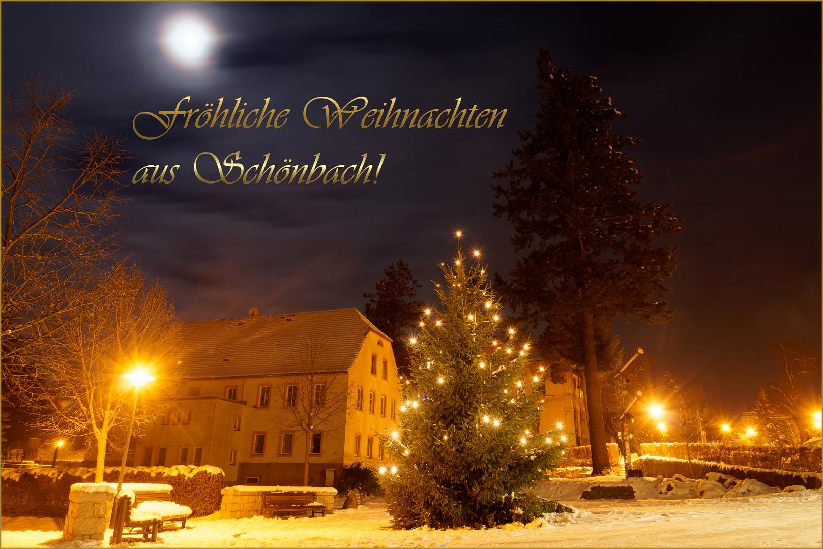 Frohe Weihnachten Aus Deutschland.Frohe Weihnachten 2018 Aus Schonbach Foto Bild Winter