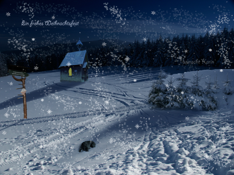 Frohe Weihnachten Foto & Bild   fotomontage, landschaften, digiart ...