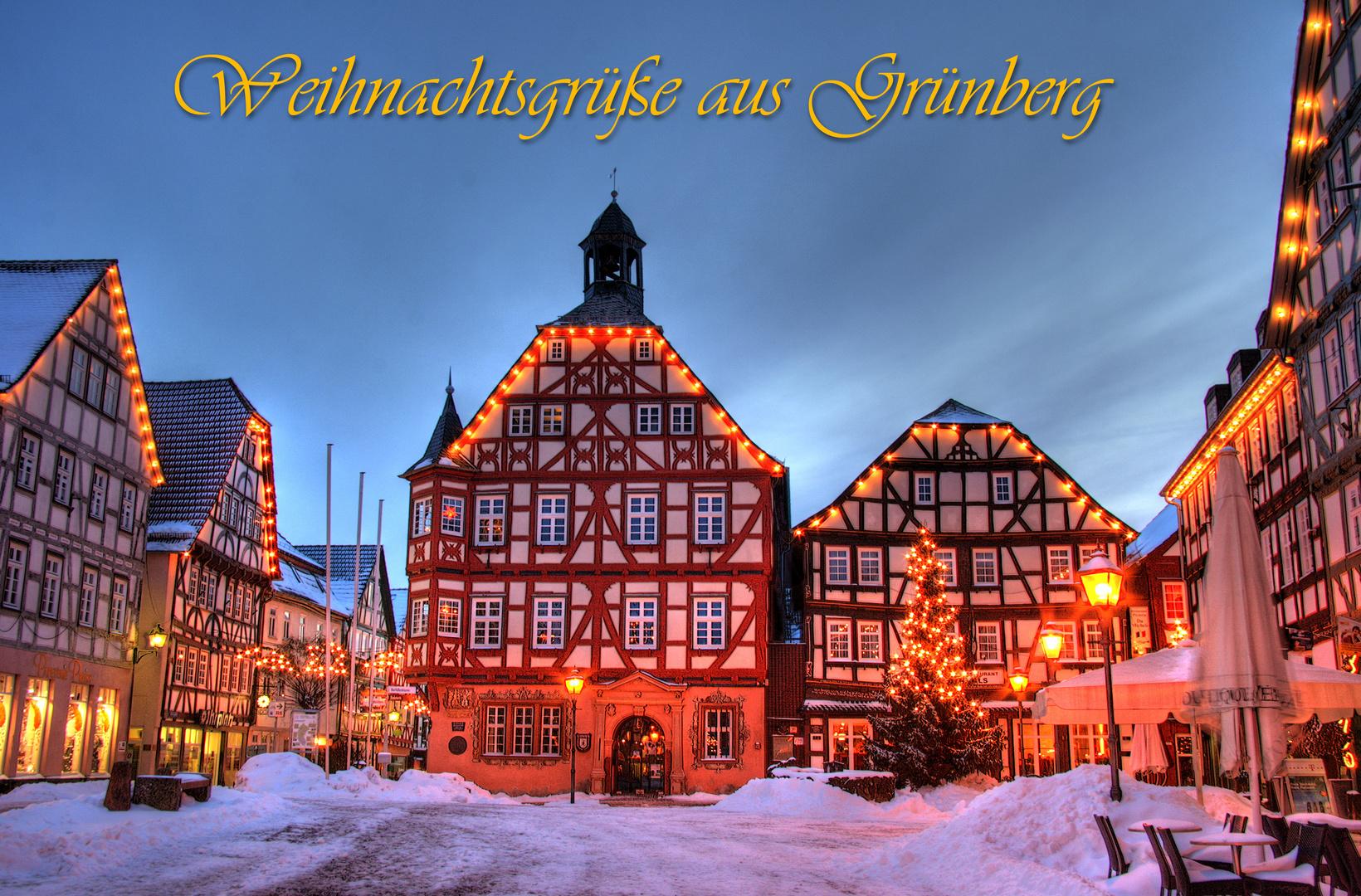Frohe Weihnachten Aus Deutschland.Frohe Weihnachten Aus Grunberg Foto Bild Deutschland