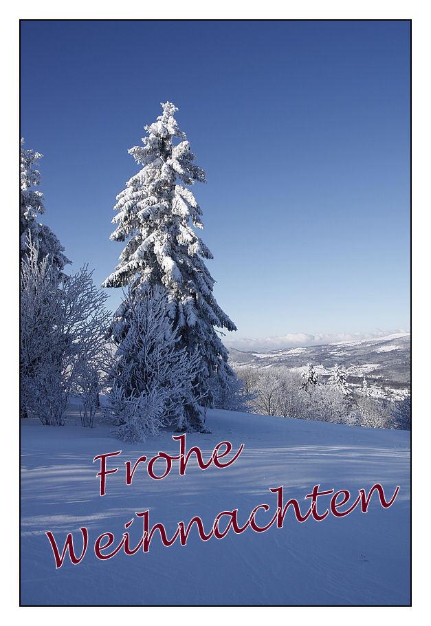 Frohe Weihnachten Euch allen !!! Foto & Bild   landschaft, rhön ...