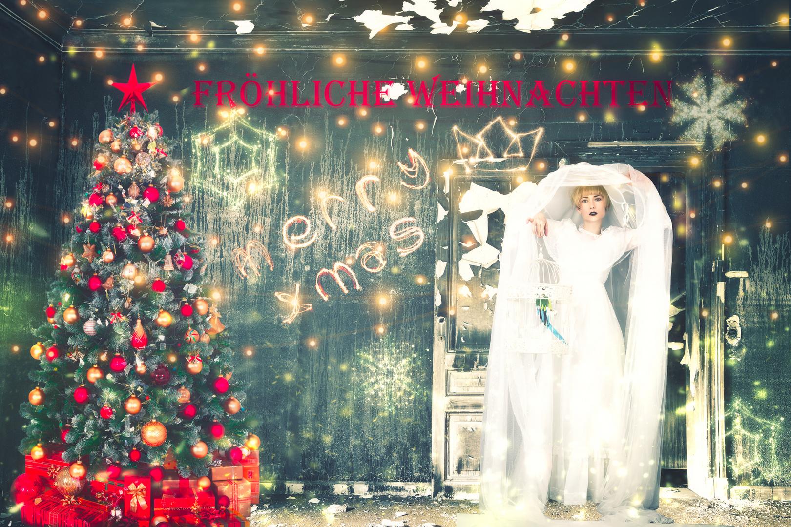 Weihnachten Mit Fantasy.Frohe Weihnachten Foto Bild Erwachsene Fotomontage Fantasy