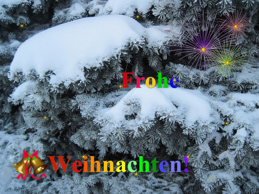 Frohe Weihnachten! / Merry Christmas! / Feliz navidad!