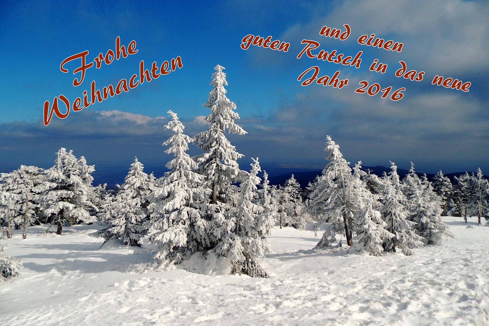 Frohe Weihnachten - Mit weißer Pracht