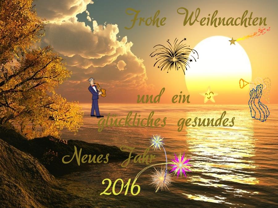 Frohe Weihnachten und ein glückliches Neues Jahr 2016 Foto & Bild ...