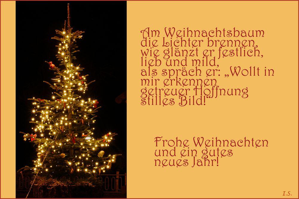 Frohe Weihnachten und ein gutes neues Jahr! Foto & Bild ...