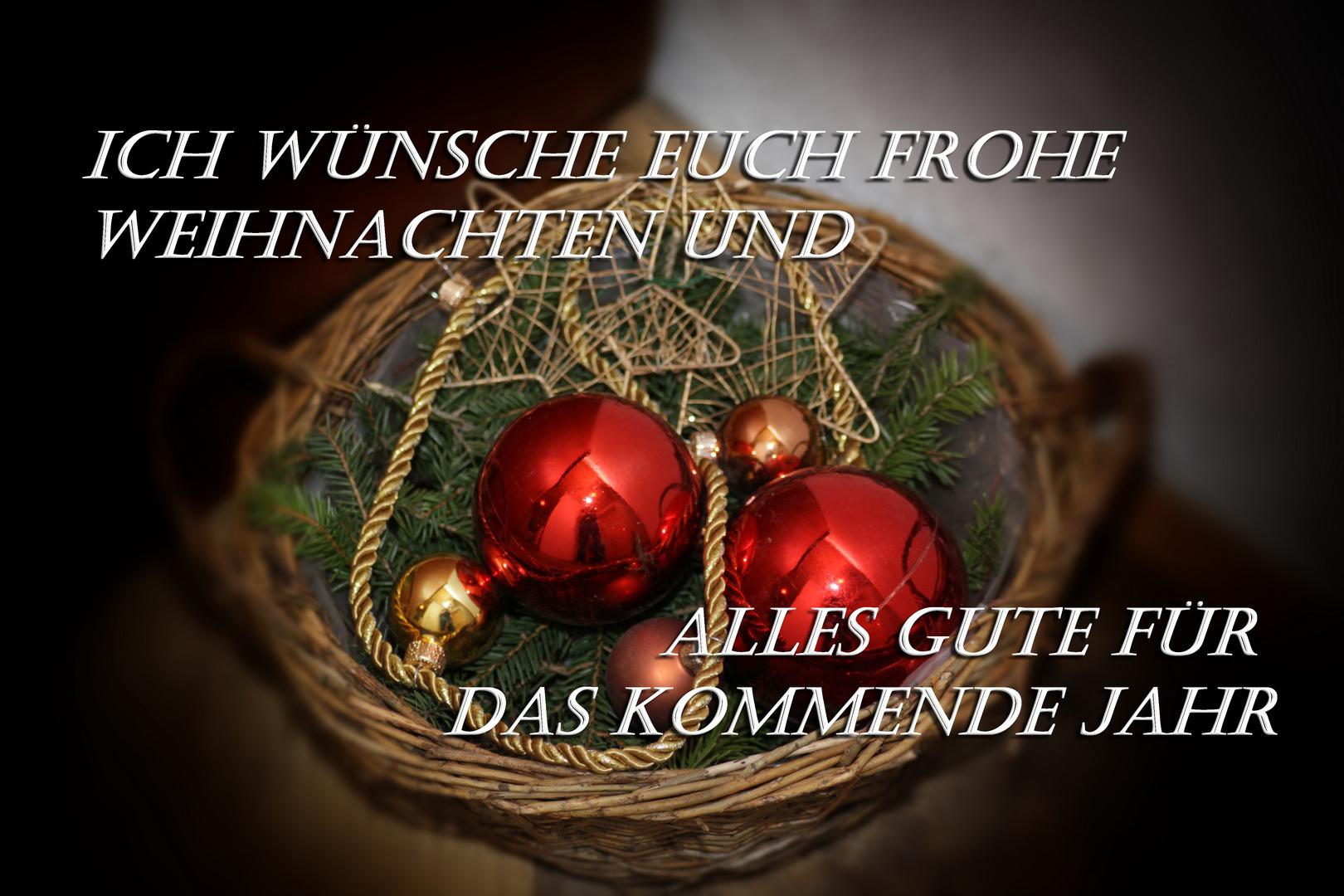 Frohe Weihnachten Und Guten Rutsch In Neues Jahr.Frohe Weihnachten Und Einen Guten Rutsch Ins Neue Jahr Foto
