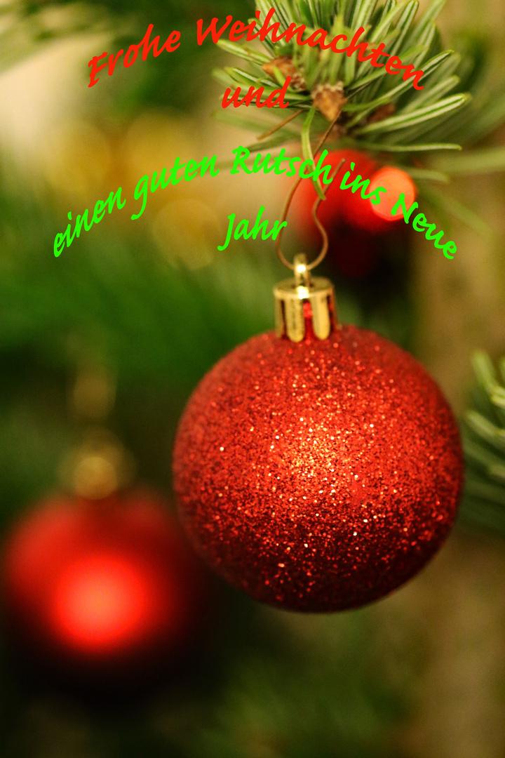 Frohe Weihnachten Guten Rutsch Ins Neue Jahr.Frohe Weihnachten Und Einen Guten Rutsch Ins Neue Jahr Foto Bild