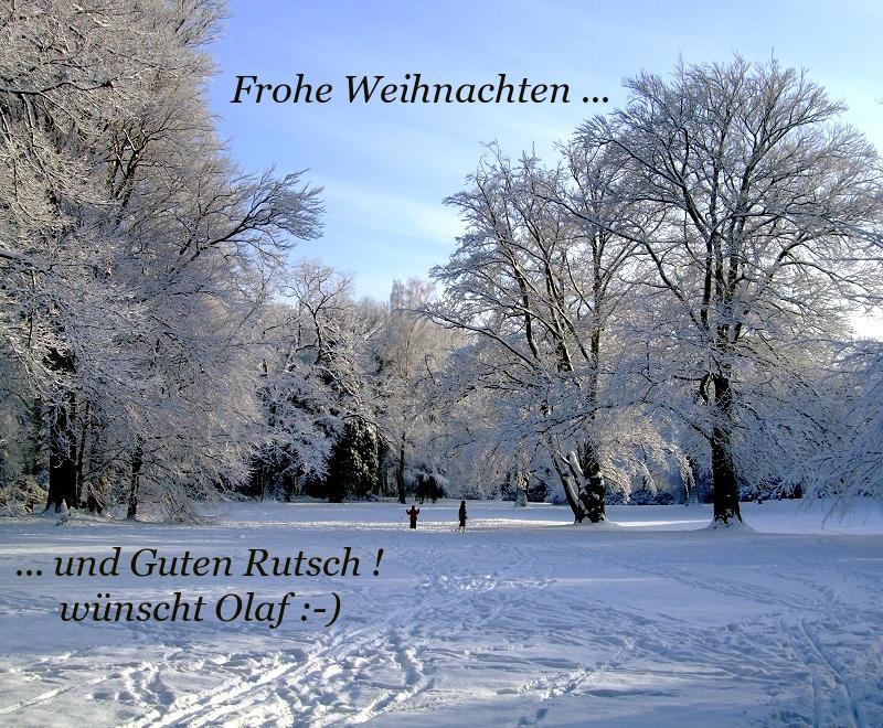 Frohe Weihnachten ... und Guten Rutsch ! :-)