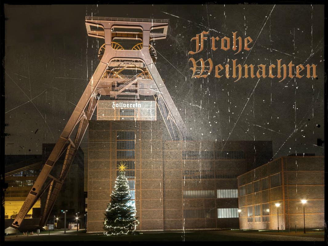 Frohe Weihnachten (Zeche Zollverein) Foto & Bild | weihnachten ...