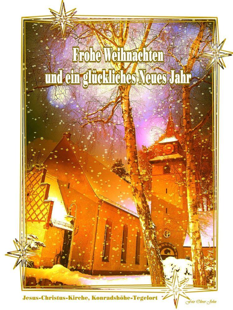 Weihnachtsgrüße An Sohn.Frohe Weihnachtsgrüße Konradshöhe Foto Bild Gratulation Und