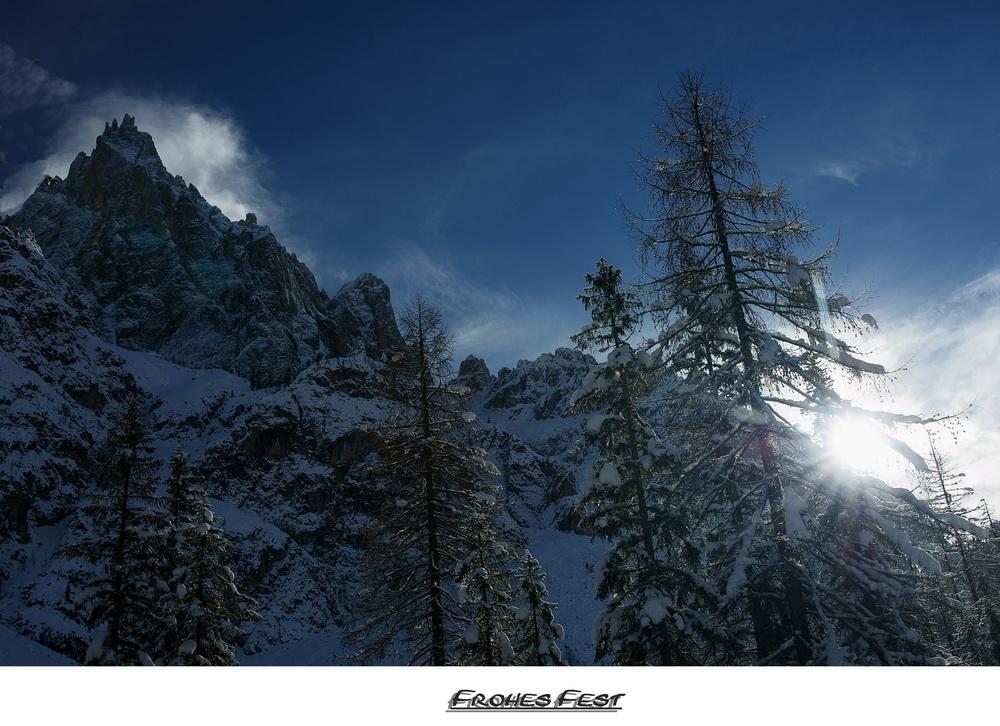 Frohes Fest an alle von den Dolomiten aus