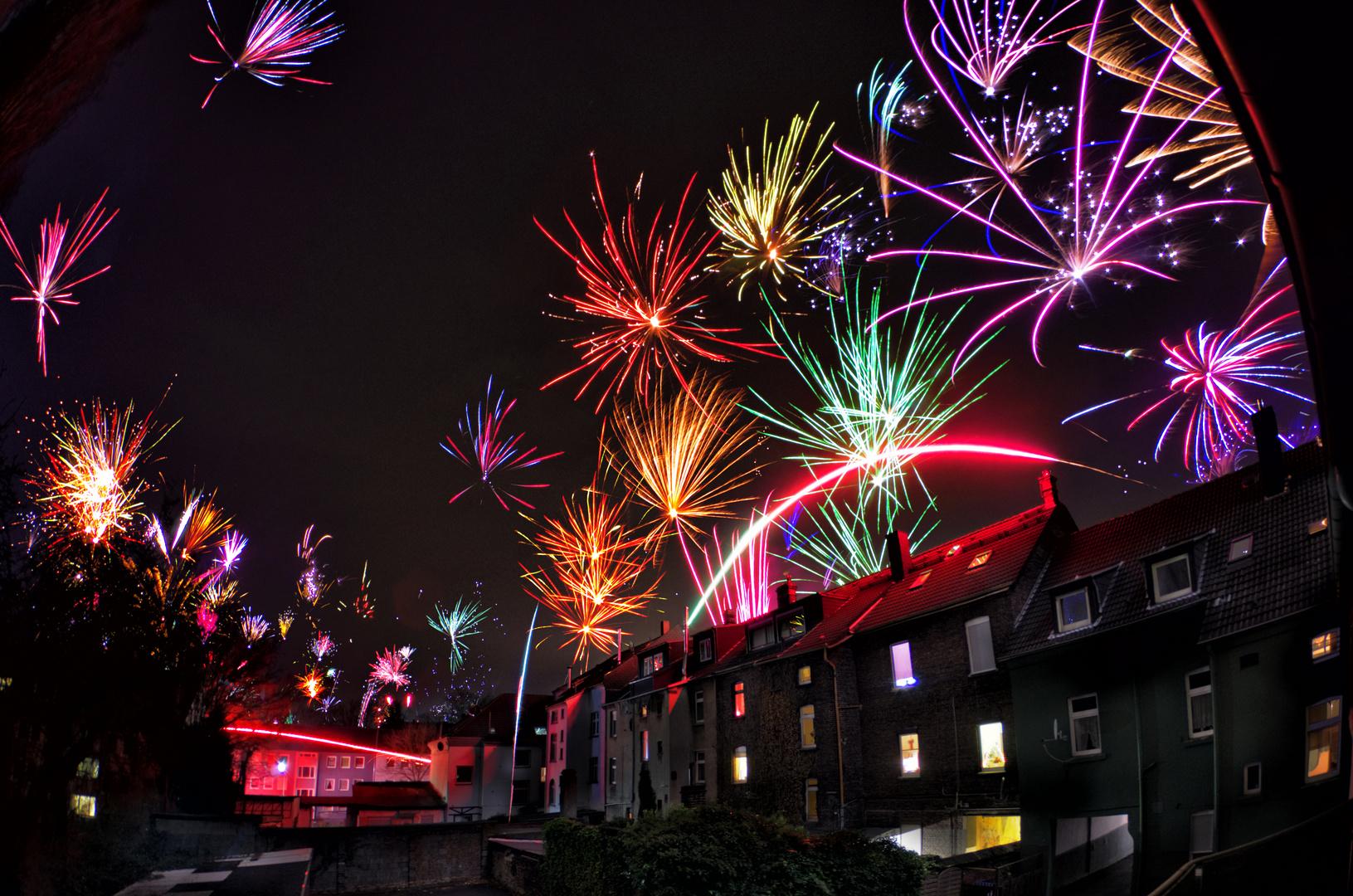 Frohes Neues Jahr aus Gelsenkirchen Rotthausen