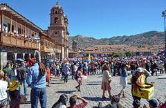 Fronleichnam auf dem Plaza de Armas in Cusco