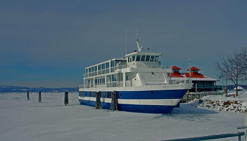 Frozen in Lake Champlain