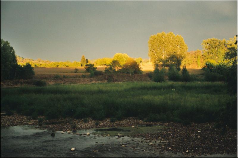 früh am Fluss Dordogne