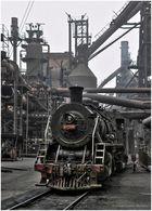 Früh morgens im Stahlwerk