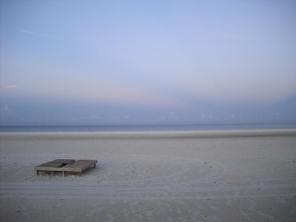 Früher Morgen am Strand