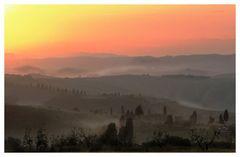 früher Morgen i.d. Toskana
