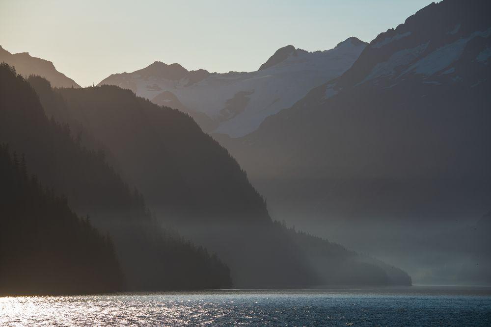 Früher Morgen in Alaska