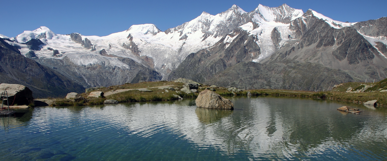 Früher Schnee im Gebirge sei für die Gletscher gut...