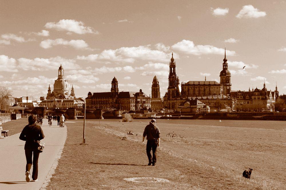 Frühling 2012 in Dresden - SW / Sepia-Bearbeitung
