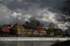 Frühling am Weserwehr