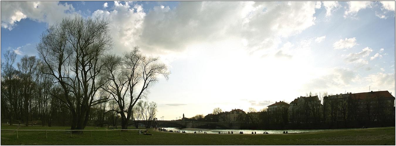 [Frühlings-Sonne] ... Wittelsbacher Brücke ...