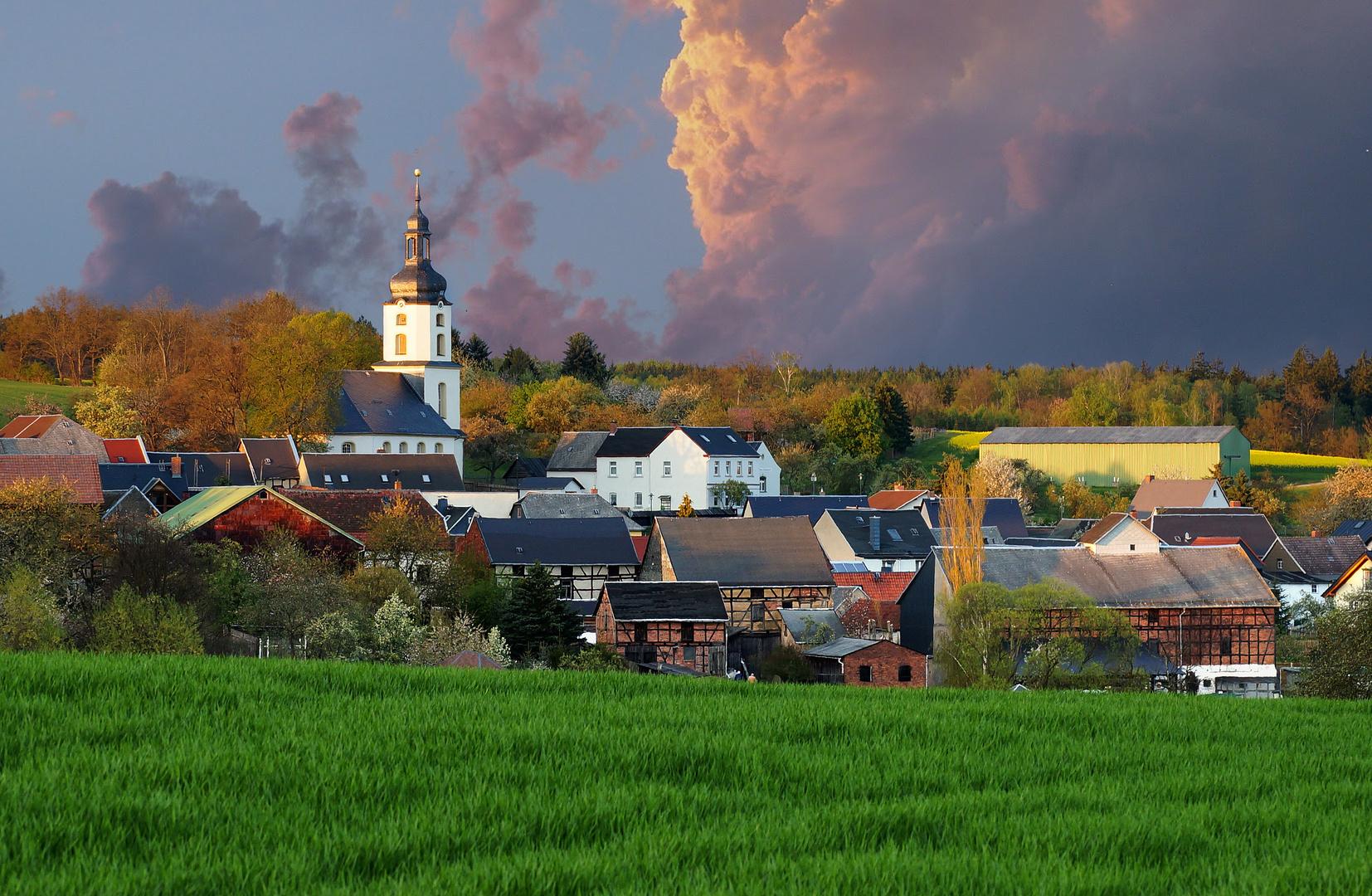 Frühlingsabend im Thüringer Vogtland