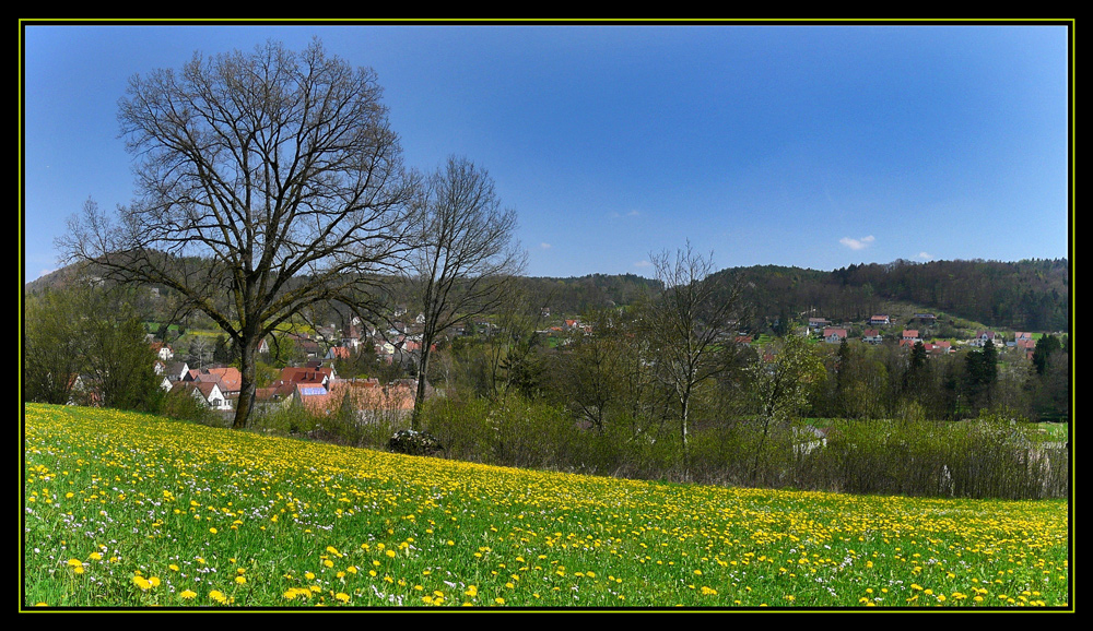 Frühlingspanorama im Pegnitztal