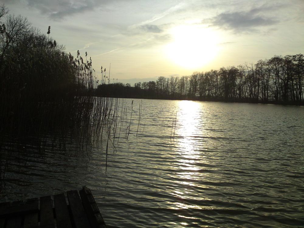 Frühlingssonnenuntergang