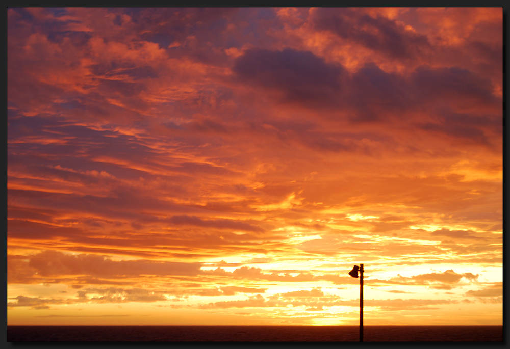...Frühmorgens am Atlantik...