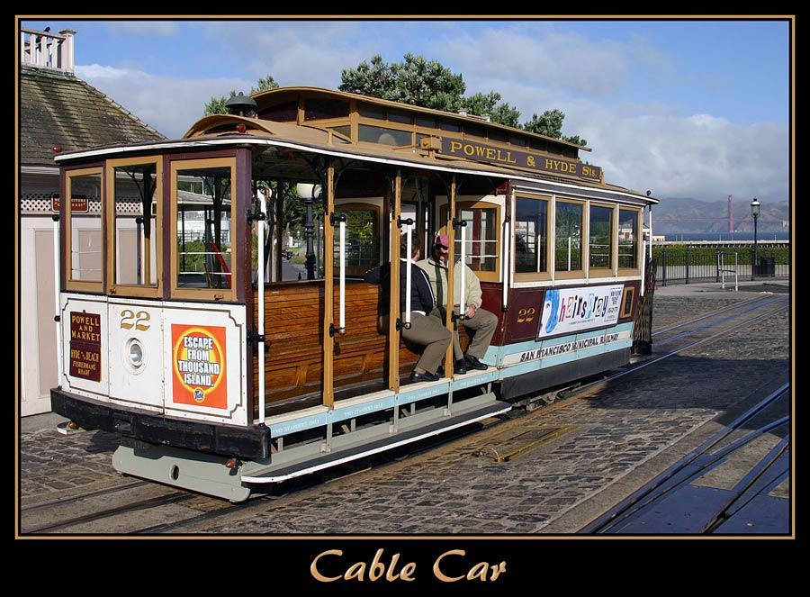 Frühmorgens an der Cable-Car-Station