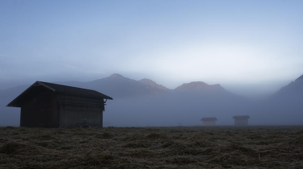 Frühnebel im Wettersteingebirge