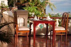 Frühstückstisch am Mekong