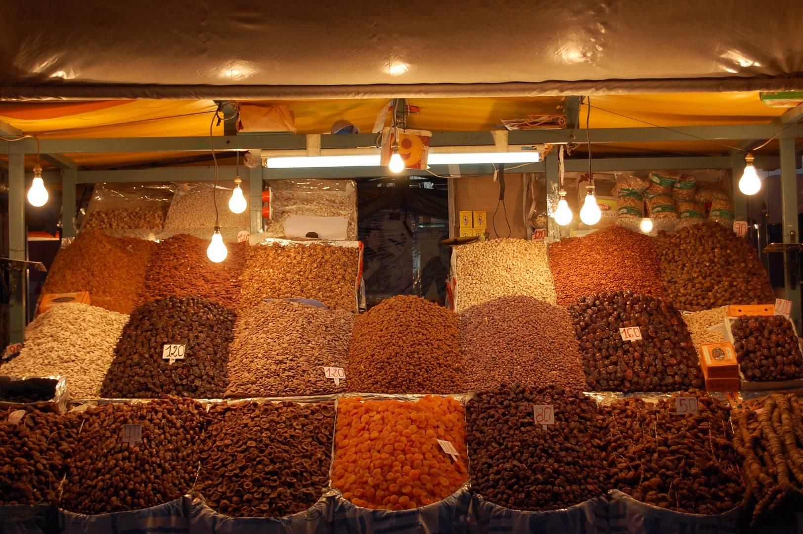 Fruits secs, Marrakech
