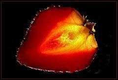 Frutilla  a trasluz