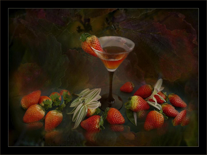 Frutillas y copa