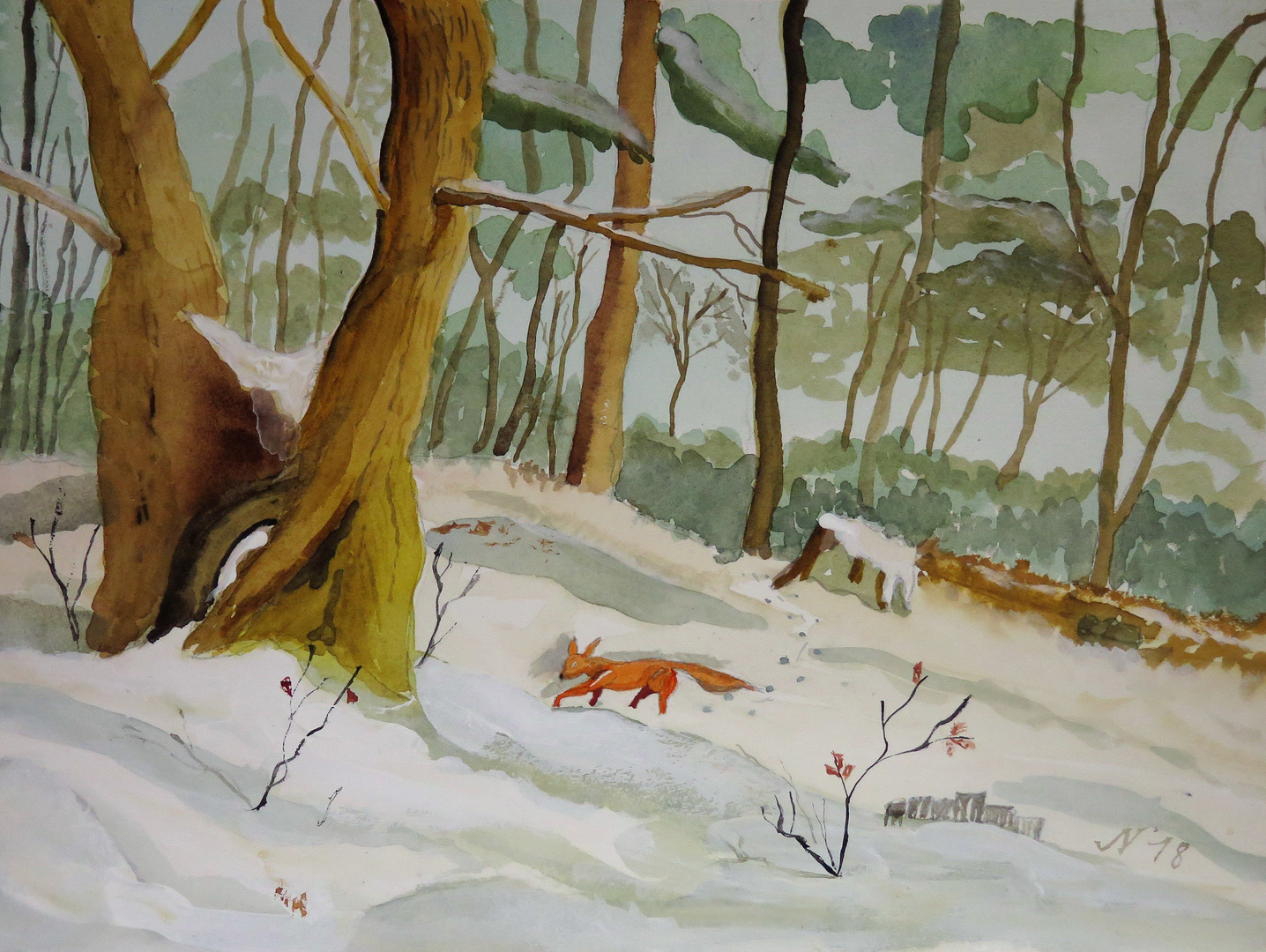 Fuchs im Schnee