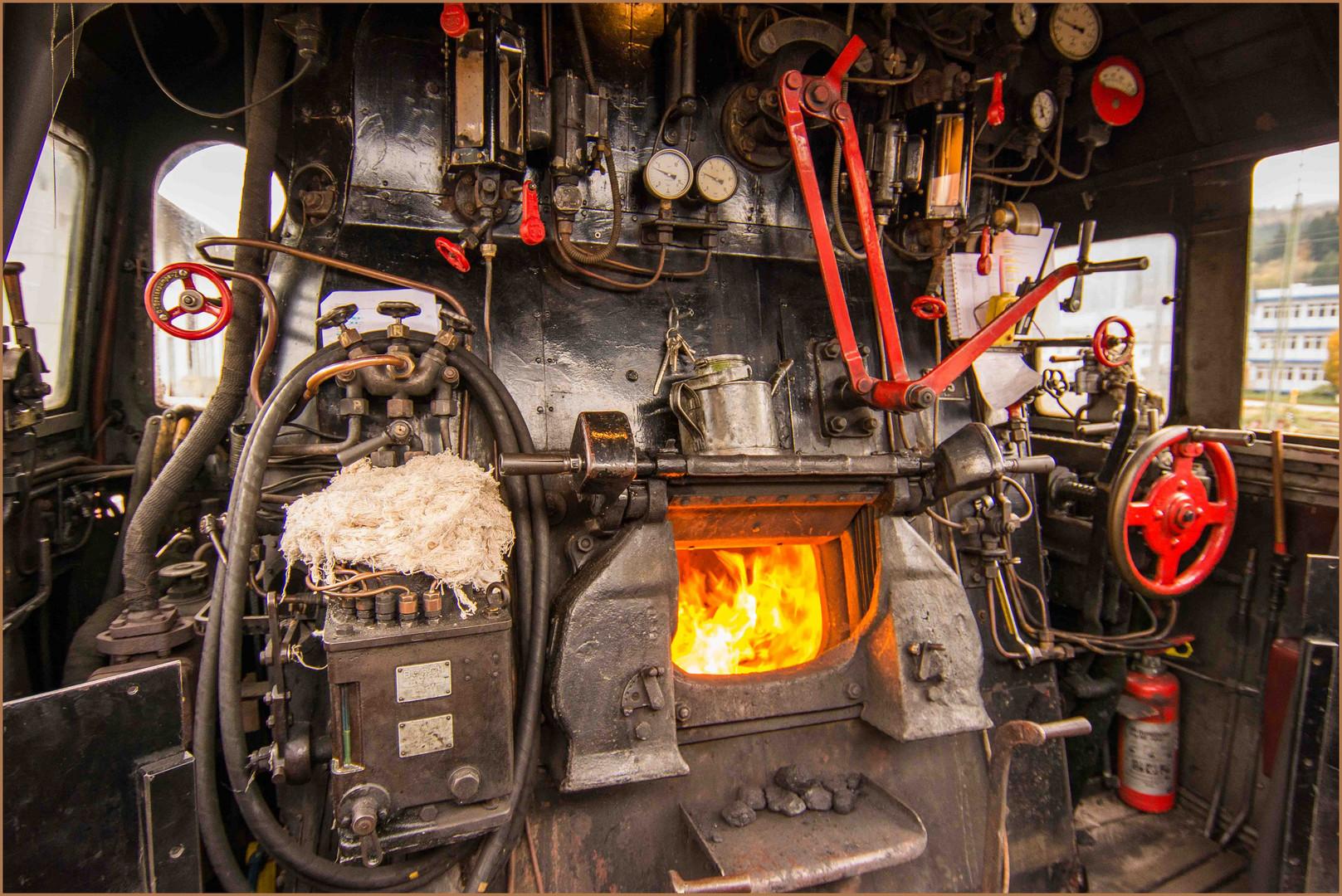 Führerstand Dampflok 58 311