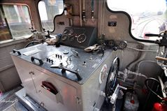 Führerstand einer Diesellok