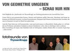 """Fünf Mitglieder der """"fotofreunde von ThyssenKrupp"""" aus Duisburg präsentieren"""