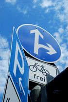 Für Fahrradfahrer ist der Weg zum Himmel frei